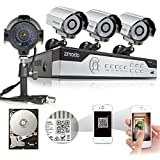 Zmodo 8CH HDMI 960H DVR 4X700TVL Day Night IR-CUT CCTV Surveillance Home Video Security Camera System 500GB Hard Drive Scan QR Code Easy Remote Access in Seconds 2 Years Warranty