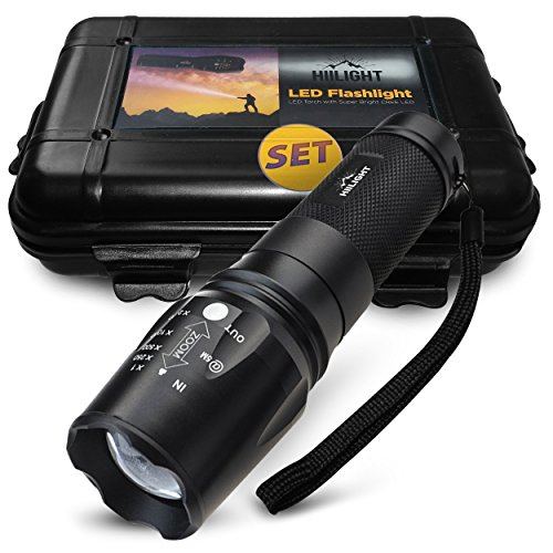 HIILIGHT-Taktische-LED-Taschenlampe-XML-T6-Akku-Ladegert-Set