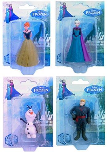 Disney Frozen Figurines- Anna, Elsa, Olaf & Kristoff - 1