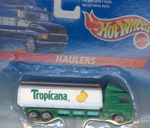 Hot Wheels HAULERS 1996 GREEN/WHITE TROPICANA Collectible Car 1:64 Scale
