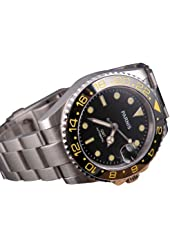 Fanmis Black Dial Yellow Number GMT Sea Style Ceramic Bezel Automatic Mechanical Men's Womens Wrist Watch