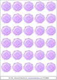 60 butterfly wax seal envelope stickers Lilac