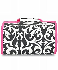 Amazon.com: Damask Hot Pink Cosmetics Bag Case Large: Beauty