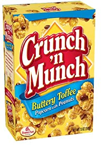 Crunch 'n Munch Butter Toffee Popcorn, 7.5-Ounce Boxes (Pack of 12)