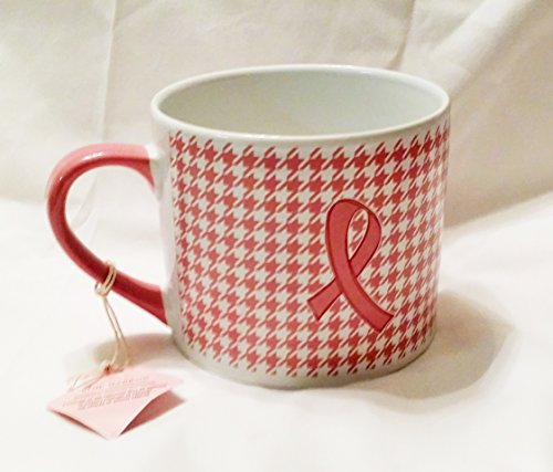 Pink Ribbon Houndstooth 20 OZ Jumbo Mug Breast Cancer Awareness By Blue Harbor Collections (Blue Harbor Collection compare prices)