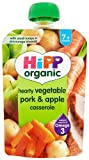 Hipp Organic Hearty Vegetable Pork and Apple Casserole Stage 2 Pouch 130 g (Pack of 2, Total 10 Pouches)