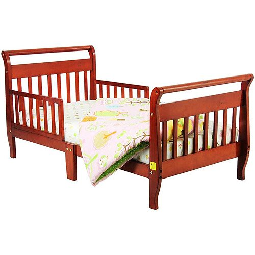 Dream On Me Sleigh Toddler Bed, Cherry front-972960