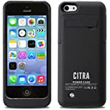 Citra 2200mAh External Battery Case Power Bank for iPhone 5 iPhone 5S iPhone 5C (Black)
