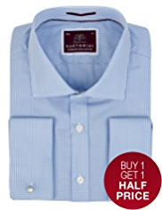 Sartorial Pure Cotton Gingham Check Shirt