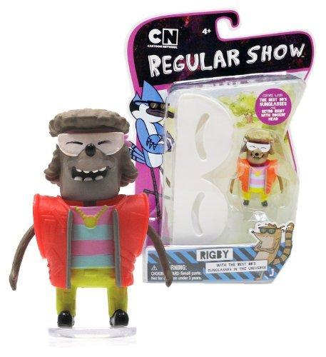 "Rockin' Head Retro Rigby ~2.5"" Mini-Figure: Regular Show Mini-Figure + The Best 80's Sunglasses In The Universe Series"
