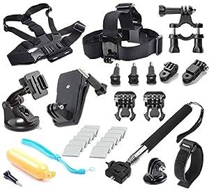 Soft Digits  Kit de accesorios para GoPro Hero 4 de plata Negro Hero 4 3 + 3 2 1