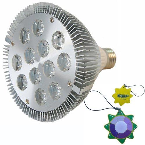 Hqrp New Super-Bright Par38 Bulb E27 Base Indoor Garden Led Spot Light For Growths Stimulate 10 Red 630 Nm / 2 Blue 450 Nm Led 2W 85V - 260V + Uv Meter