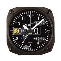 "Trintec 2060 Series NV Aviation Altimeter Altitude Travel Alarm Clock 3.5"" Sq"