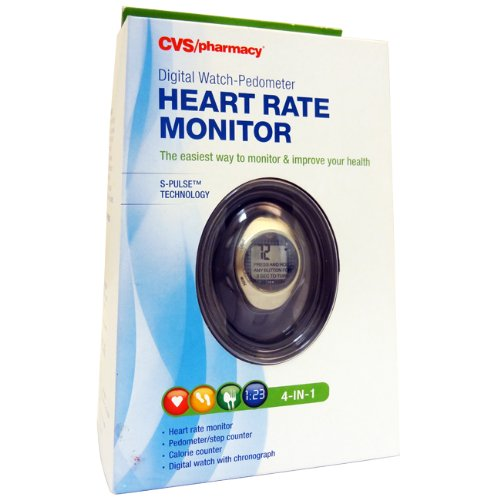 Cvs 4 in 1 heart rate monitor pedometer amp step counter calorie