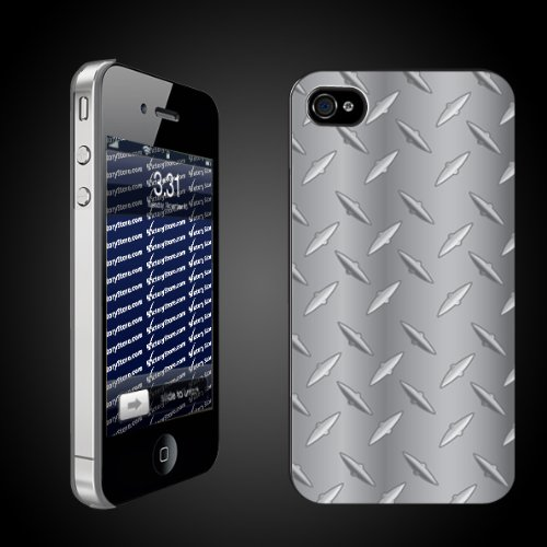 Diamond Plate Pattern   iPhone Hard Case   CLEAR Protective iPhone 4/iPhone 4S Case.