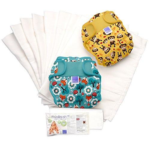 Bambino Mio Miosoft 2 Piece Prefold Diaper Set for Unisex, Size 1