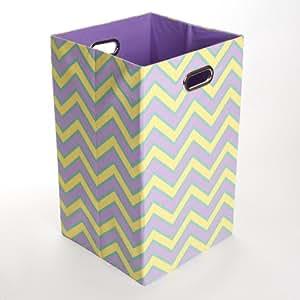 GiggleDots Canvas Folding Laundry Bin - Sweets Sweets Zig Zag