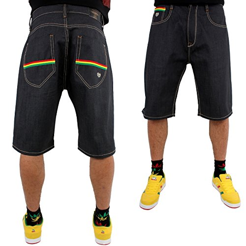 phat-farm-rasta-stripe-baggy-japon-raw-denim-short-en-jean-38-w