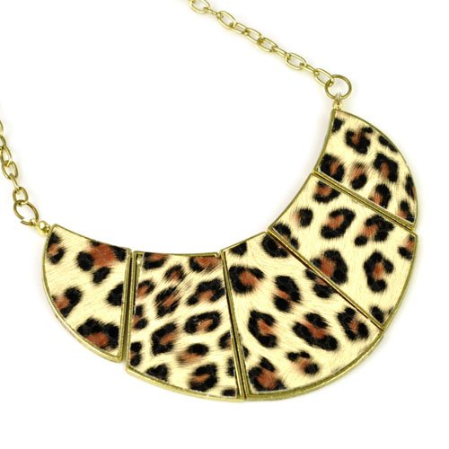Leopard Print Collar Necklace,animal Print Chocker,nl-1914