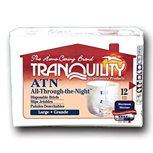 Principle Business Ent Tranquility Atn (all-through-the-night) Disposable Brief - 1 bags of 12 from Principle Business Enterprises