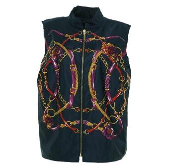 Charter Club Women's Reversible Equestrian Vest Intripid Blue Combo 0X