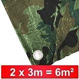 Abdeckplane 2x3m 90g/m² camouflage Holzabdeckplane Flecktarn Tarn