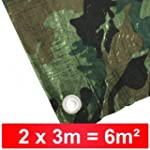 Abdeckplane 2x3m 90g/m� camouflage Ho...