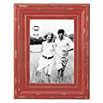 "Prinz Carson Wood Frame, 8 x 10"", Red"