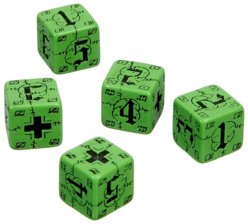 Q-Workshop Green/black German Axis and Allies Battle D6 Dice Set