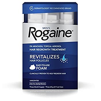 Set A Shopping Price Drop Alert For Men's Rogaine Foam, Three Month Supply