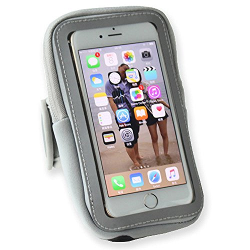 ZedYasou Multifunctional Outdoor Sports Case Cover Mobile Phone Arm Package Bag Running Sports Pouch Key Holder for Phone Under 7 Inch with Earphone Jack (gray) (Grey Jack compare prices)