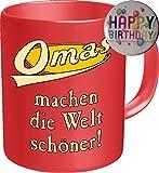 2602 Geburtstag Muttertag Tasse: OMAS MACHEN DIE WELT SCHÖNER