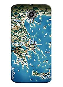 Omnam Sea Side Of Ocean Cartoon Printed Designer Back Cover Case For Google Nexus 6