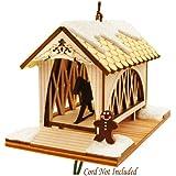 Covered Bridge Wood Ornament Ginger Cottage