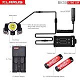 Newest Design Bundle: KLARUS BK30 1280 Lumen, Adjustable Triple Head LED Bikelight, Main light CREE XM-L2 U2, side lights CREE XP-G2, Tools Free, with C2 Charger & two 18650 Rechargeable Batteries Picture