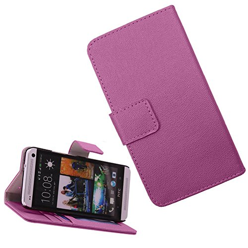 Mylife (Tm) Electric Purple {Hip Design} Faux Leather (Card, Cash And Id Holder + Magnetic Closing) Slim Wallet For The All-New Htc One M8 Android Smartphone - Aka, 2Nd Gen Htc One (External Textured Synthetic Leather With Magnetic Clip + Internal Secure