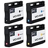 UCI Remanufactured Ink Cartridge Chipped Replace HP932XL HP933XL - 1Set For HP Printer ( Non-Original )