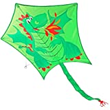 KENGEL® Pentagon Dragon Kite 47 Inches Long And 40 Inches Wide. 120 Feet Of Cable