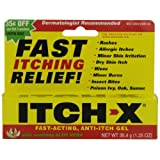 Itch-X Fast-Acting Anti-Itch Gel, 1.25-Ounce Tube (Pack of 4) ~ Itch-x