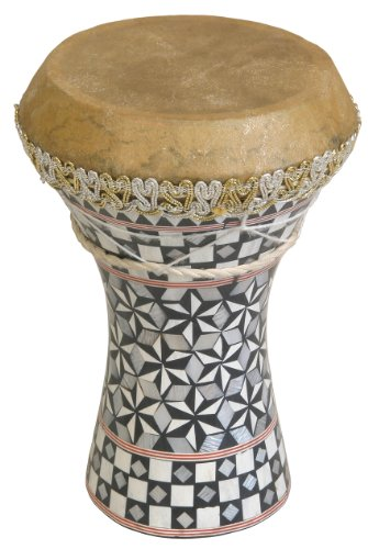 Mosaic Wooden Doumbek, Small - Mid-East