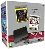 echange, troc Console PS3 320 Go noire + Gran Turismo 5 + Fifa 12 - platinum