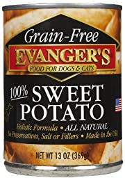 EVANGER\'S Grain Free Sweet Potato, for Dogs and Cats, 13-Ounce, 12 Count