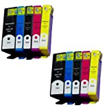 2 SETS OF 5 HP364XL COMPATIBLE INK CARTRIDGE MULTIPACK FOR HP C510A Photosmart eStation e-All-in-One Printer - HIGH CAPACITY COMPATIBLE ***WITH CHIP*** /Cyan / Magenta / Yellow / Black / Photo Black / ***By TriINKs***