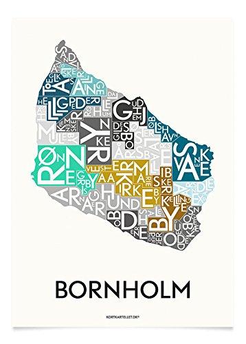 Bornholm Kortkartellet Art Print-Stampa, edizione speciale