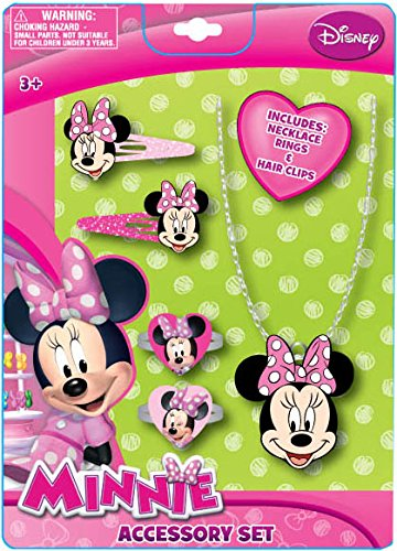 Minnie Mouse Jewelry and Hair Accessory Set - 1