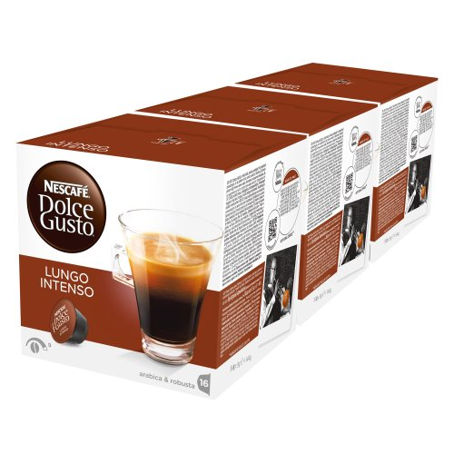 Get Nescafé Dolce Gusto Lungo Intenso, Coffee, Pack of 3, 3 x 16 Capsules from Nestlé
