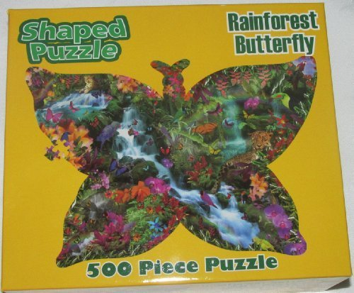 Butterfly Shaped Puzzle 500 Piece Puzzle
