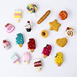 Pack of 18 Dessert Fridge Magnet Decor Refrigerator Magnets Sticker Home Decoration Children's Early Education Cupcake French Totast Sweet Mini Size 2cm
