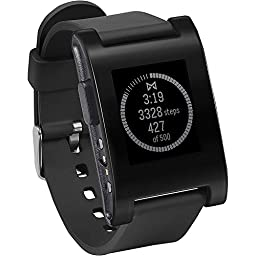 Pebble Smartwatch (Classic) for iPhone and Android Devices - Jet Black (Certified Refurbished)