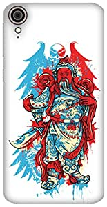 The Racoon Grip printed designer hard back mobile phone case cover for HTC Desire 828. (The Angry)
